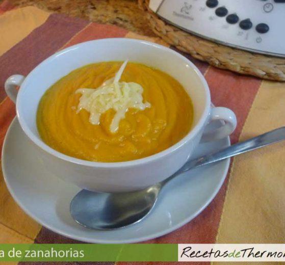 Crema de zanahorias con Thermomix