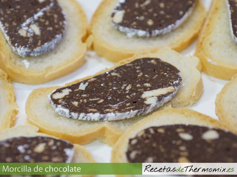 Morcilla de chocolate con thermomix