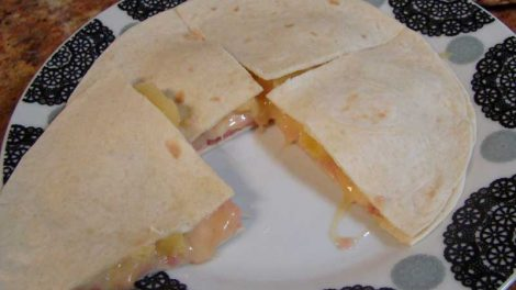 Quesadillas tropicales con Thermomix