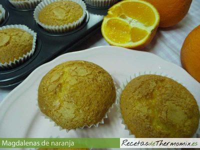 Magdalenas de naranja con Thermomix