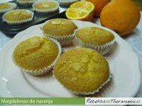 Magdalenas de naranja de Thermomix