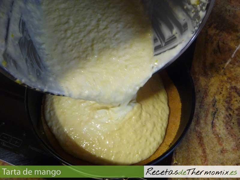 Crema para tarta de mango con Thermomix