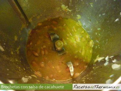 Como hacer salsa de cacahuetes con la Thermomix