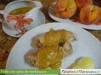 Pollo con salsa de melocotón de Thermomix