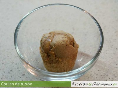 Coulant de turrón de Thermomix