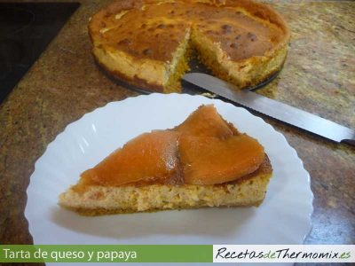 Tarta de queso y papaya de Thermomix