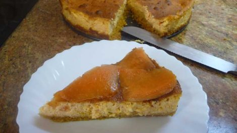 Tarta de queso y papaya con Thermomix