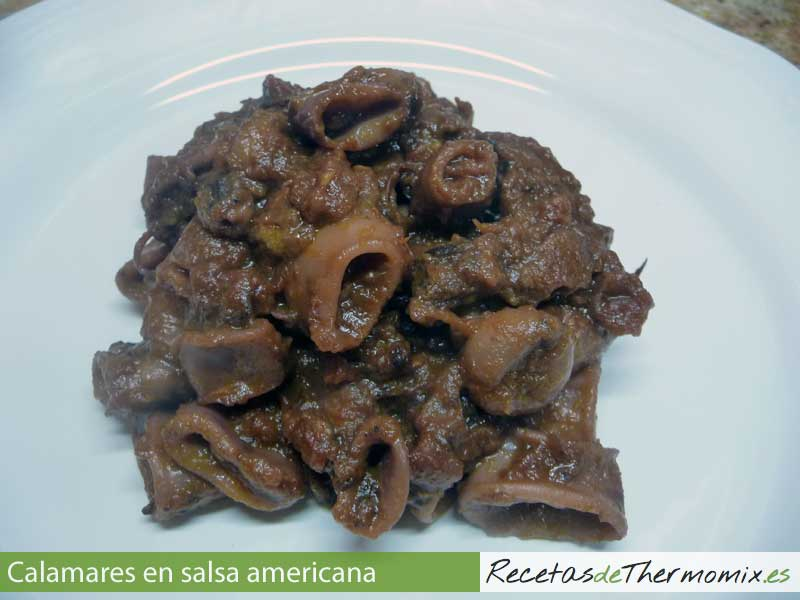 Calamares en salsa americana Thermomix