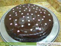 Tarta de chocolate y crema de Thermomix