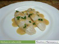 Merluza en salsa verde con Varoma