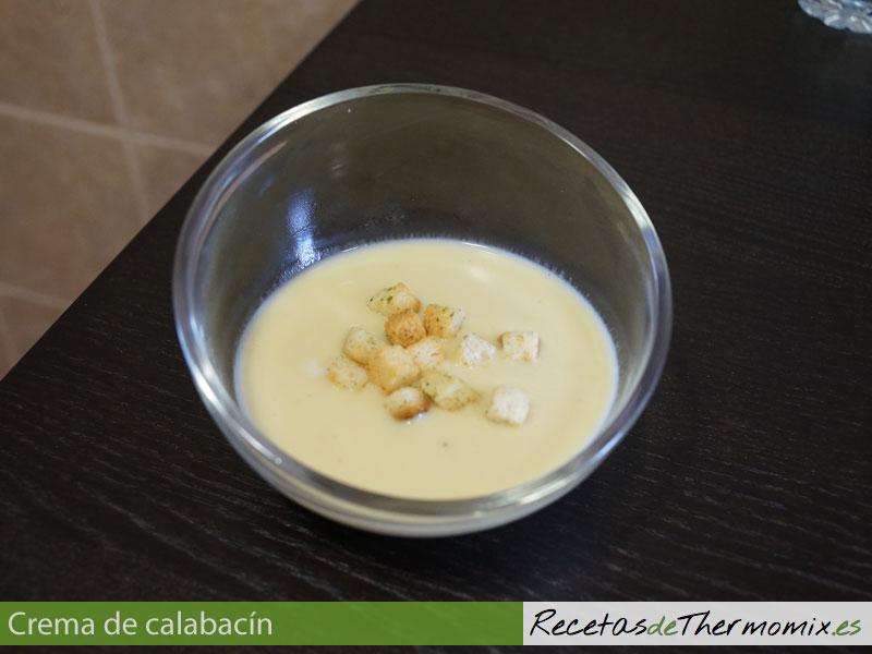 Crema de calabacín con Thermomix