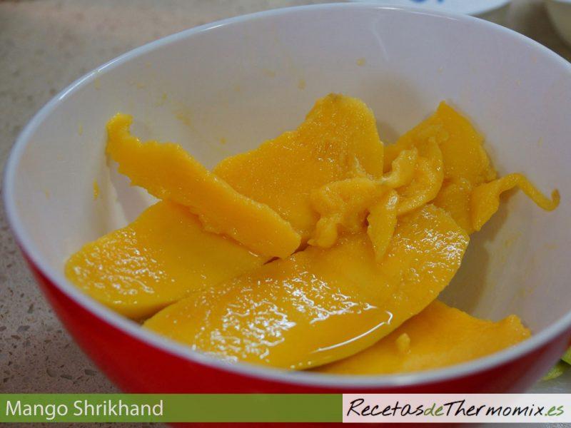 Mango para shrikhand con Thermomix