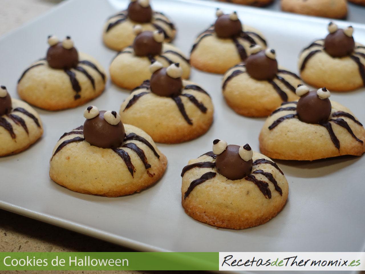 Cookies con forma de araña para Halloween con Thermomix