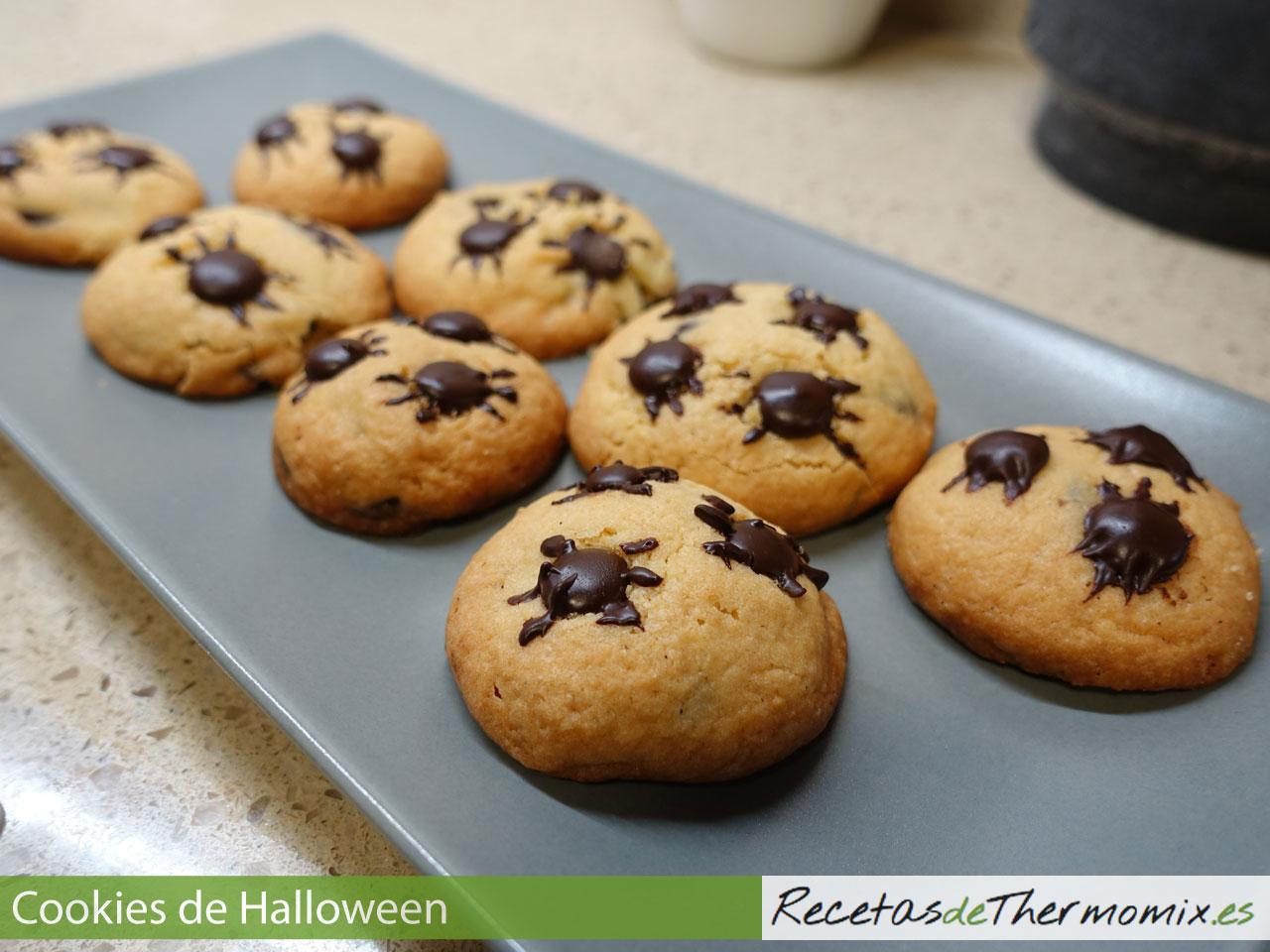 Cookies con arañas para Halloween con Thermomix