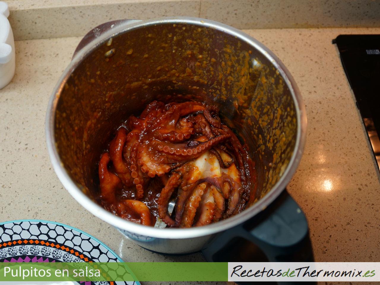 Cómo hacer pulpitos en salsa con Thermomix