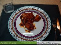 Pulpitos en salsa con Thermomix