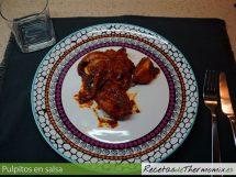 Pulpitos en salsa con Thermomix