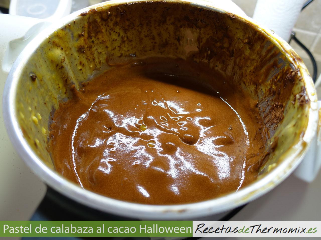 Masa de pastel de calabaza al cacao con Thermomix