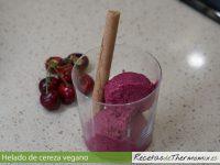 Helado de cereza vegano Thermomix