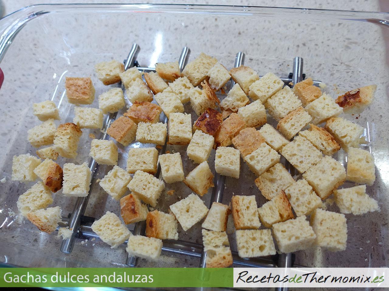 Picatostes para gachas dulces andaluzas