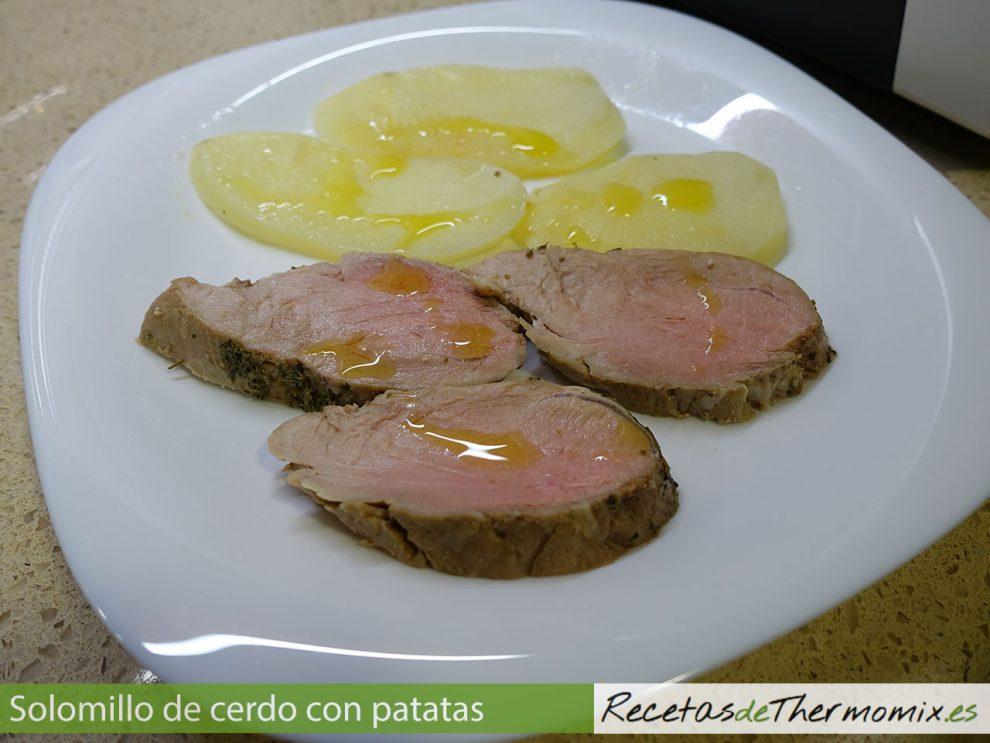 Solomillo De Cerdo Al Vapor Con Patatas Con Thermomix
